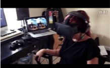 My Wife Freaking Out While Riding The Oculus -Rift Coaster-